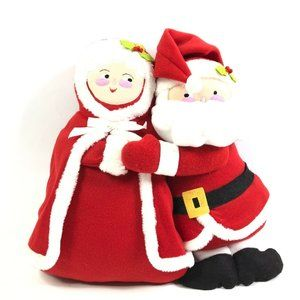 Plush Santa Claus And Mrs Claus Hugging Christmas